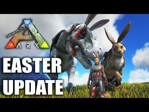 ARK Survival Evolved EASTER UPDATE Procoptodon Bunny Costume - Dino Bunny Ears - Bunny Egg