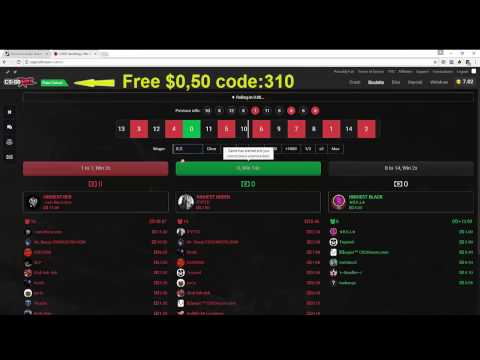 CSGORoll Roulette betting double Profit - Free $0,50 Code:310