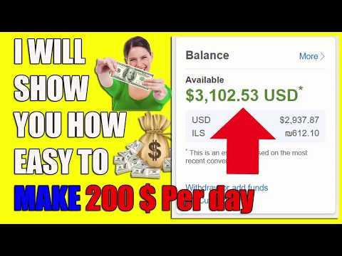 My Secret Revealed How I Make 200$ Per Day To My PayPal Account Step By Step