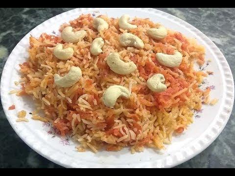 Gajar  Chawal Ka Meetha Pulao | Gajar Wale Meethe  Chawal | Sweet carrot Rice Recipe