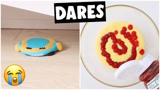 EXTREME SLIME & SQUISHY DARES?! *making ketchup slime*