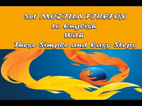 How to Change Mozilla Firefox Browser to English from Any Language