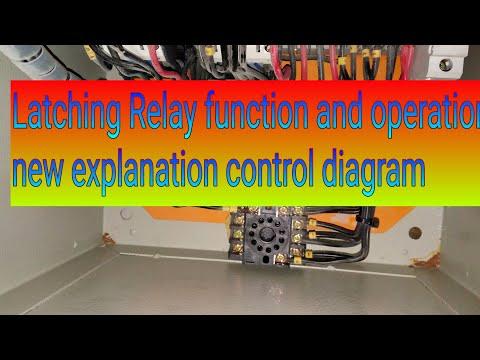 latching relay tutorial/ latching relay wiring/ latching relay diagram