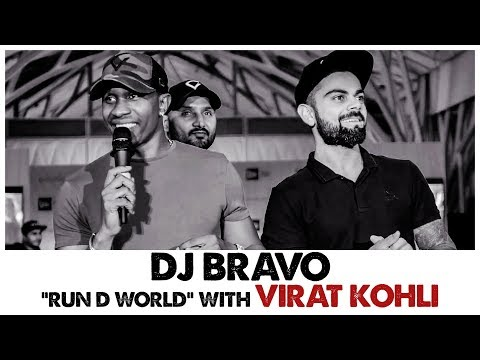 DJ Bravo - Run D world with Virat Kohli