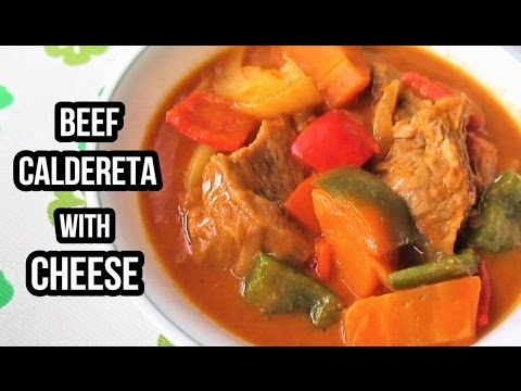 Beef Caldereta With Cheese Recipe (Kalderetang Baka)