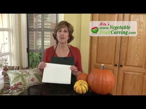 Carving Pumpkin Patterns the Easy Way with Pattern Transfer Fabric
