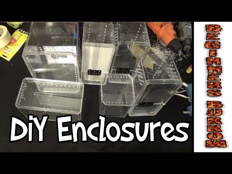 DiY Cheap Acrylic Enclosures - Beginners Burrow