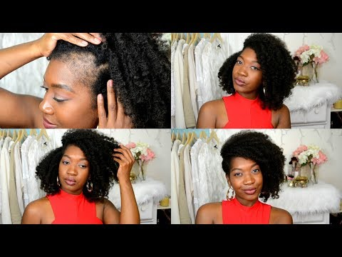 Shaved My Edges | Braid and Curl & Side Swept Natural Hair Updo | How I Cover my bald edges