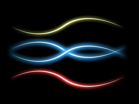 Neon Glow Lines - Glowing Effect Photoshop Tutorial