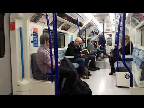 Tube ride Victoria line st Pancras to London Victoria 25.10.17