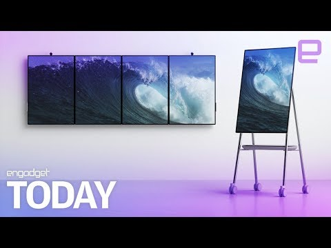Microsoft's Surface Hub 2 is a giant rotating collaboration screen | Engadget Today