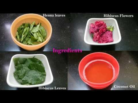 Hibiscus Hair Oil preparation | Fast hair growth | Hair Darkening