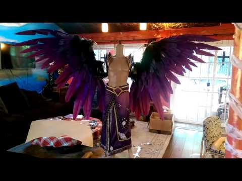 Morgana Animatronic Cosplay Wing Demonstration (League of Legends)