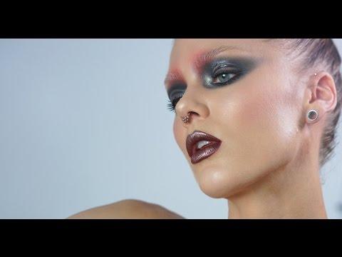 Weird Editorial Makeup With Bleached Brows - Linda Hallberg Makeup Tutorials