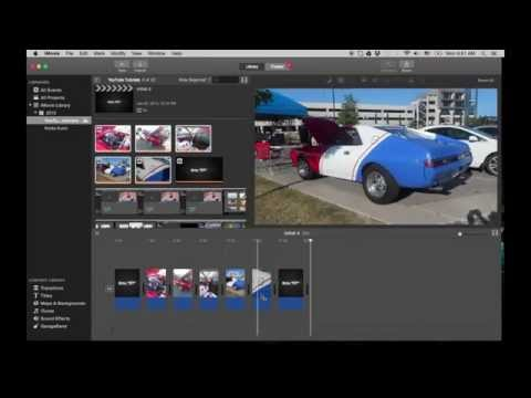 iMovie Tutorial 2015 - Global Image Time Change - Image Duration