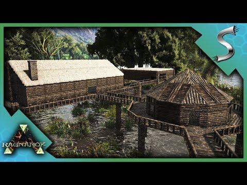 BUILDING A SWAMP VILLAGE! - Ark: RAGNAROK [DLC Gameplay S3E76]