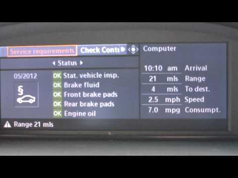 Oil Level Check BMW iDrive