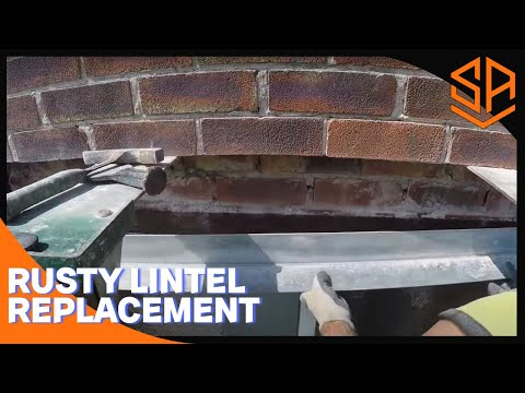 Bricklaying with Steve and Alex REPLACING A BLOWN RUSTY LINTEL