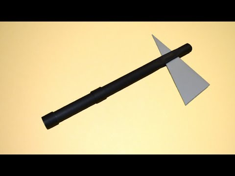 How to make a paper battle axe - Tomahawk