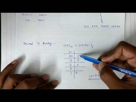 Decimal to binary ||  Binary to decimal Conversion
