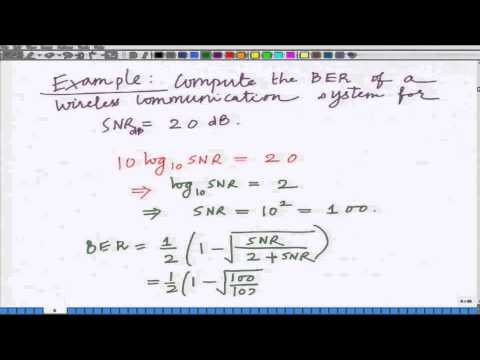 Lecture 08: Bit Error Rate of Rayleigh Fading Wireless Channel