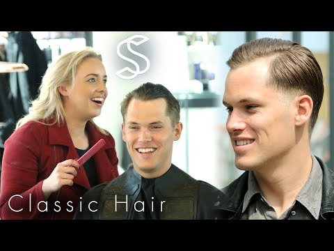 Classic Comb Over Hairstyle for Men - A Casual Business Haircut