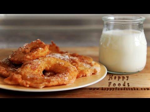 Easy to Make Fried Battered Apple Rings | HappyFoods