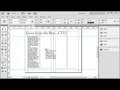 Adobe InDesign - Part 4: Automatic Text Threading (Linking Text Boxes)