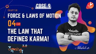 Force & Laws of Motion L-4 [3rd Law of Motion, Conservation of Momentum & Numericals] CBSE 9 Science