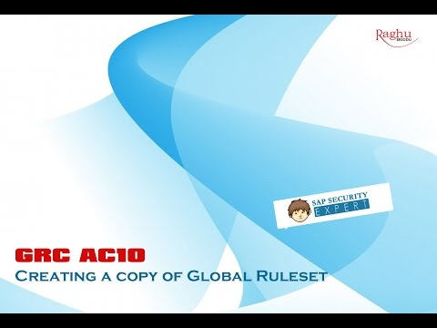 Creating a copy of Global Ruleset