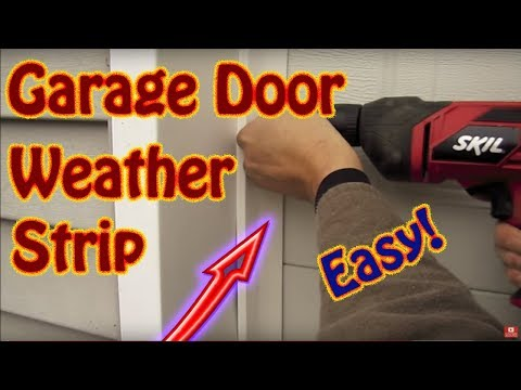 DIY - How to Install Garage Door Weather Seal - Winterize With Garage Door Weather Striping