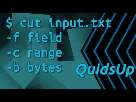 Linux Terminal Basics: Cut – Abstract Fields / Characters