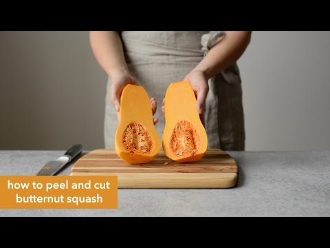 How to Peel & Cut Butternut Squash