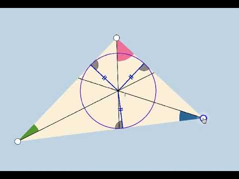Triangle Incenter + Incircle Action