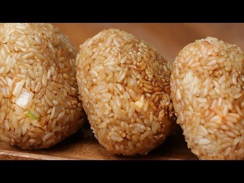 Sriracha Mayo Chicken Rice Balls