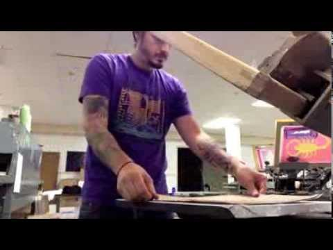 Spaceboy Clothing - DIY Screen Printing on Paper Bags