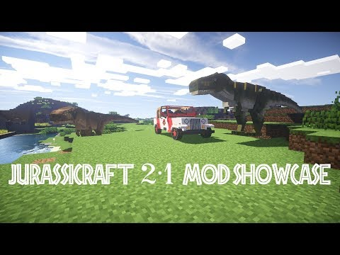 JurassiCraft 2.1 Mod Showcase PART 1: New Technology and Cloneable Mobs!