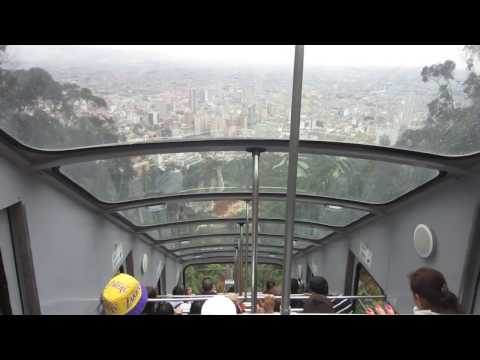 Travel Video - Riding the Funicular down at Monserrate in Bogota, Colombia