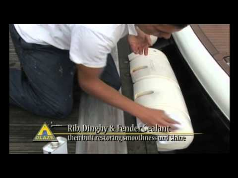 Boat and Yacht Cleaning Product -- A Glaze Rib, Dinghy & Fender Sealant.mov