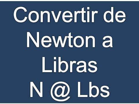 Convertir Newton a Libras