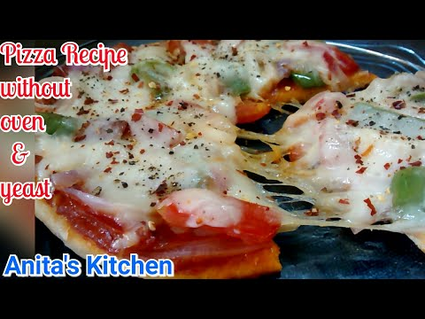Delicious Pizza Recipe without oven and without yeast| Pan Pizza | Pizza Recipe | pizza dough mix