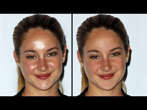 How to Remove Oil/sweat from face in Adobe Photoshop [in HINDI]