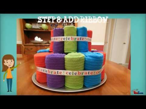 Towel Cake Housewarming Gift Tutorial