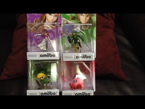 Nintendo Super Smash Bro amiibo Unboxing (Zelda, Link, Toon Link and Kirby)