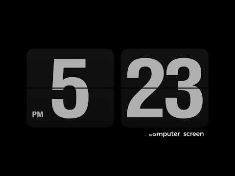 Flicker Clock Screen Saver Installation Tutorial | MAC & WINDOWS | 2017