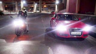 My kawasaki vs Audi drag race | Top Speed