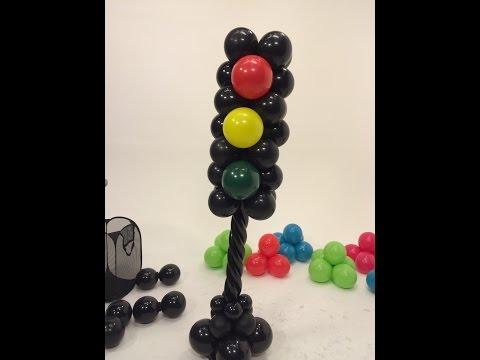 Balloon Tower- Traffic Light Style ~ DIY Tutorial