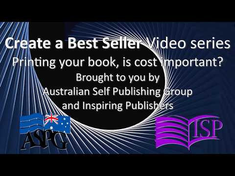 Printing your book, is cost important?