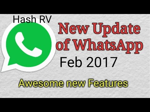 WhatsApp New Update Feb 2017 | Status and Photo Feature | How to Update Whatsapp