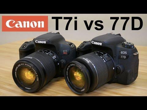Canon T7i (800d) vs Canon 77D - Head to Head Shootout!